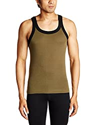 Tuna London Mens Cotton Vest (8907158018029_Miami_XL_Black / Green)