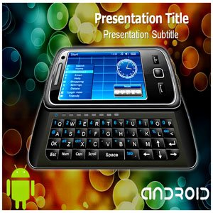 Android phone PowerPoint Template -Android phone