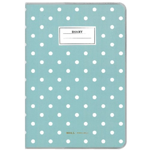 Diego 2014-2015 diary MILL A6 Monthly Dot Mint starts 3/2014 monthly size: 108 x 154 x 5 mm E9401