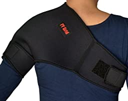Universal Shoulder Support (XS) - Neoprene with adjustable Strap - Left or Right - Black