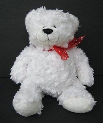 "GANZ Winter Gus 10"" Teddy Bear Plush Adult Collectible/ Baby Gift Item- White - 1"