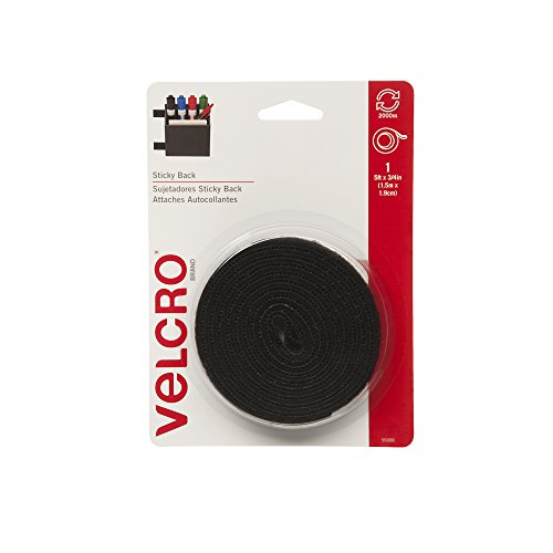 VELCRO Brand-Sticky Back-3/4-Inch Wide Tape, 5-Feet-Black