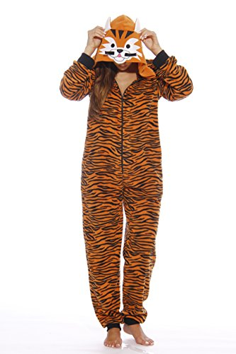 Just Love Animal Print Microfleece Adult Onesie One-Piece Pajamas