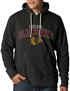 NHL Chicago Blackhawks Slugger Pullover Hoodie Jacket, Charcoal by