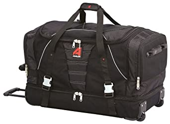 "Athalon Luggage 29"" Over/Under Duffel, Black"