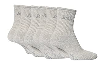 6 pairs Boys Jeep Grey Sport Socks 12-3 Shoe (7-10 Years) 31-36 eu