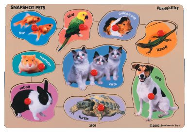 Picture of small world toys Snapshot Pets Peg Puzzle (B000JR4NGG) (Pegged Puzzles)