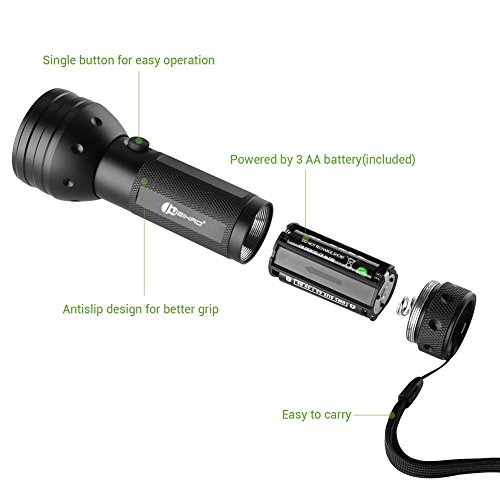 Juzihao 51 Led 395 Nm Uv Ultraviolet Blacklight Flashlight