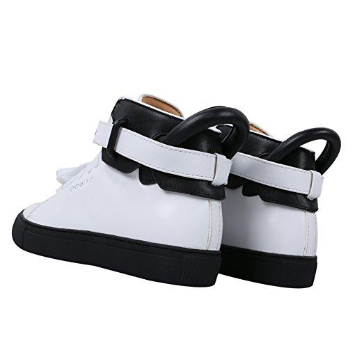 AIJIAER Scarpe nuovo modo della molla della scarpa da tennis (nero bianco, 25)