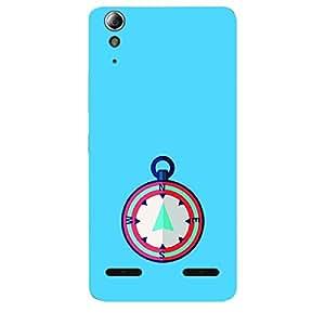 Skin4gadgets Designer Compass Colour - Blue Phone Skin for LENOVO A6000 PLUS