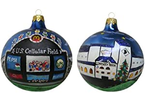 Chicago Christmas Ornament - U.S. Cellular Field and Comiskey Park