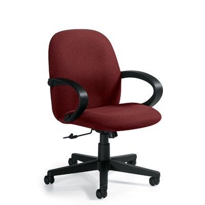 Trend Mid Back Pneumatic Tilter Office Chair with Arms Fabric Renewal Volcanic Ash
