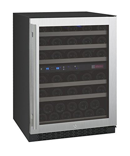 Allavino FlexCount VSWR56-2SSRN - 56 Bottle Dual Zone Wine Refrigerator with Right Hinge Built-In (Refrigerators Built In compare prices)