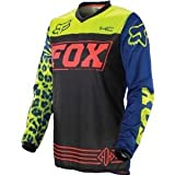 Fox Racing HC Pee Wee Youth Girls MotoX Motorcycle Jerseys - Black/Blue / Medium