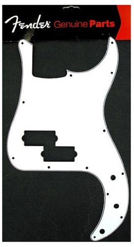Fender 005-8261-000 Precision Bass Pickguard, 13 Hole, White, 3-Ply