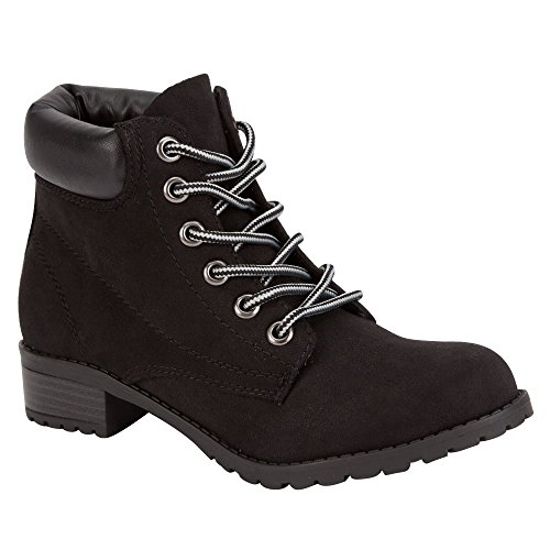 SODA Equity Womens Work Boots, Black, 6.5 (Soda Equity Boots compare prices)