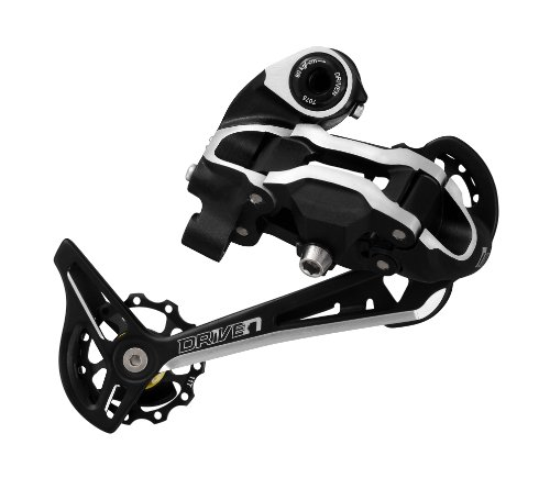 Driven Rdmx7 9-Speed Long Cage Bike Derailleur With Bolt, Black/Silver