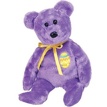 TY Beanie Baby - EGGS 3 the Purple Easter Bear - 1