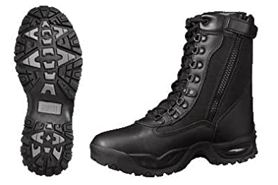 AIR-TAC Zipper Black Leather Motorcycle Boot - Leatherbull (Free U.S. Shipping) (5)