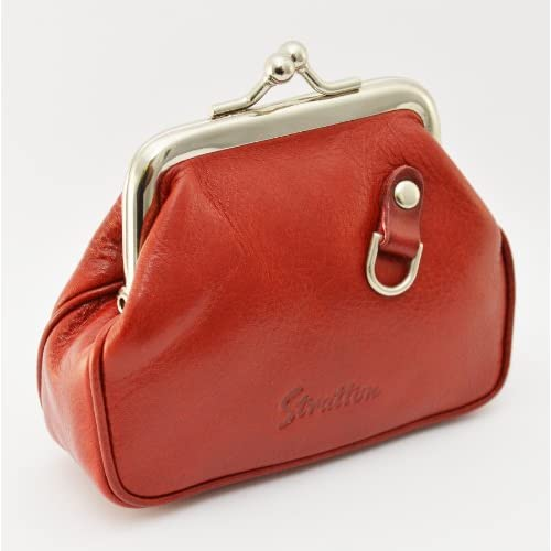 Traditional Ladies Quality Red Leather Vintage Coin Purse