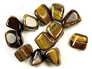 Gold Tiger Eye Tumbled Polished Stones Nugget Beads 20mm