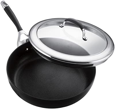 "Circulon Elite Nonstick 12"" Covered Deep Skillet"