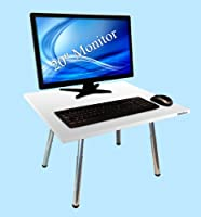 The Original Stand Steady - Converts Your Desk to Stand up Desk, Adjustable Height (White) from Stand Steady, LLC