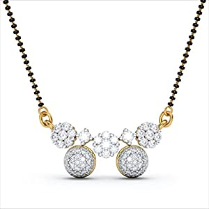 Certified 18K Yellow Gold 0.89 cttw White-Diamond (FG | VS) mangalsutra