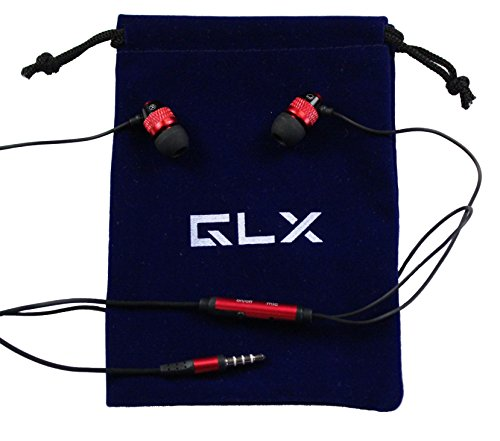 Glx Tm Shredphones Superior Quality Stereo Earphones With Microphone (Red)