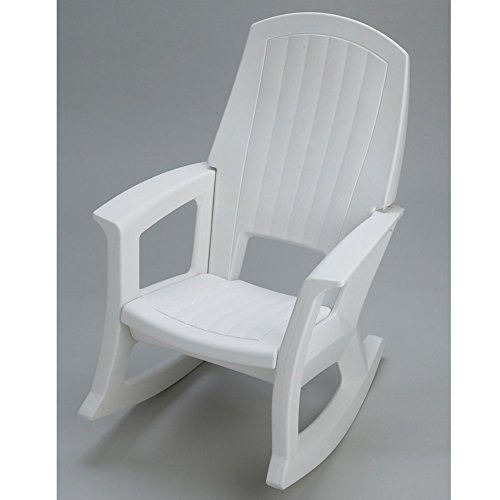 White Resin Outdoor Rocker picture
