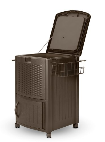 Suncast DCCW3000 Resin Wicker Cooler image