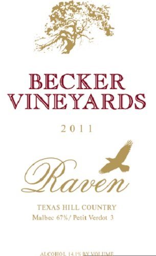 2012 Becker Vineyards Raven Red Blend 750 Ml