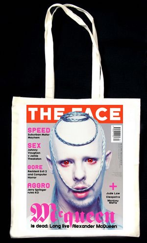 Alexander Mcqueen the Face Apr 1998 Tote BAG