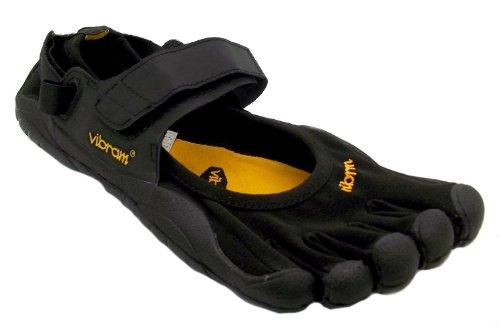 Men's M118 Sprint Vibram Five Fingers Black Velcro Barefoot Running Trainers