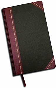 Adams Record Ledger, 8.63 x 14.13 Inches, Black Covers with Maroon Spine, 300 Pages (ARB814R30)