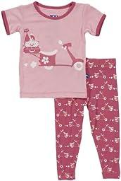 KicKee Pants Baby Girls\' Print Pajama Set (Baby) - Flamingo Moped - 3-6 Months