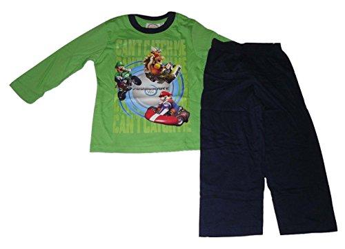 Super Mario -  Pigiama due pezzi  - Maniche lunghe  - ragazzo Verde verde