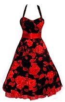 Aprils 50s Floral Rockabilly Vintage Swing Evening Cocktail Party Dress