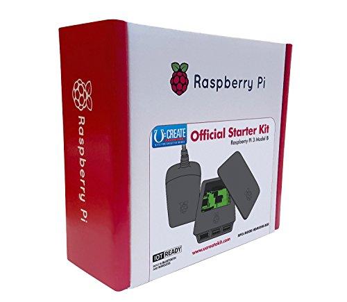 U:Create - Raspberry Pi 3 officielle Kit de démarrage (Noir, UK/Euro)