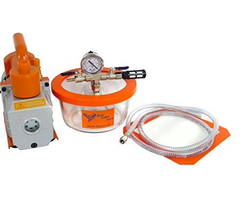 1.75 quart BVV Vacuum Chamber (Assembled in USA,Contains Domestic Components)& 3 CFM Pump (Vacuum Purge Kit compare prices)