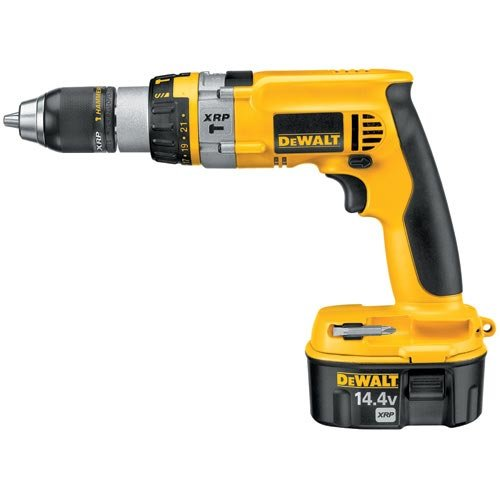 DEWALT DC985VA 14.4-Volt Ni-Cad 1/2-Inch Cordless Hammer Drill/Driver Kit with Pistol Grip and Vehicle Charger