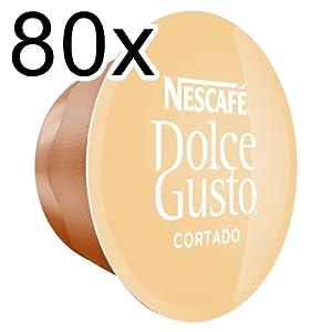 Choose 80 x Nescafé Dolce Gusto Cortado Espresso Macchiato, 80 Capsules from Nestl