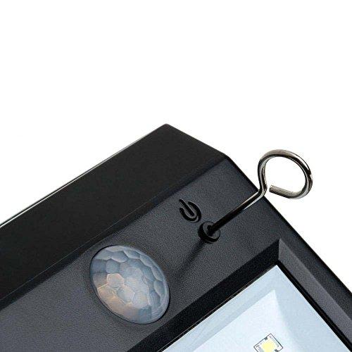 Gearmax® Lampe Solaire Lumière 8 LED Sans Fil avec Détecteur de Mouvement et à Énergie Solaire pour Zones Extérieures comme un Patio, Pont, Jardin, Allée et Garage