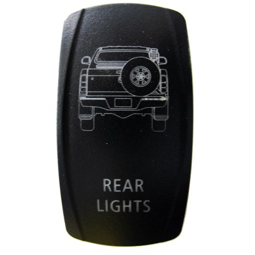 Rocker Switch Toyota Hilux Rear Lights Symbol - Blue Led