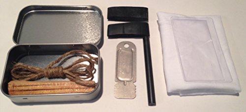 Altoids Tin Emergency Fire Can Starting Kit: Pocket Fire Tin Making Kit Survival Kit