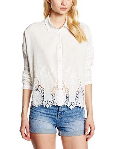 Mexx MX3020924 Women Blouse Long Sleeve-Camicia Donna    Elfenbein (cloud dancer 102) 38