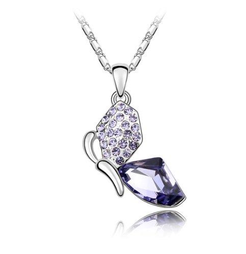 Boxingcat Fine Jewelry Swarovski Style Clear Austrian Crystal Pendant Necklaces Bgca4180 front-614194