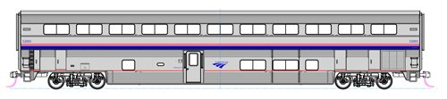 HO Superliner I Sleeper Amtrak/Phase IVb #32005