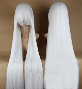 Topbill Anime Inuyasha Long Straight Cosplay Wigs 100cm