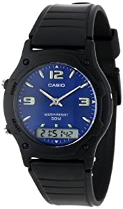 Casio Men's AW49HE-2AV Ana-Digi Dual Time Watch